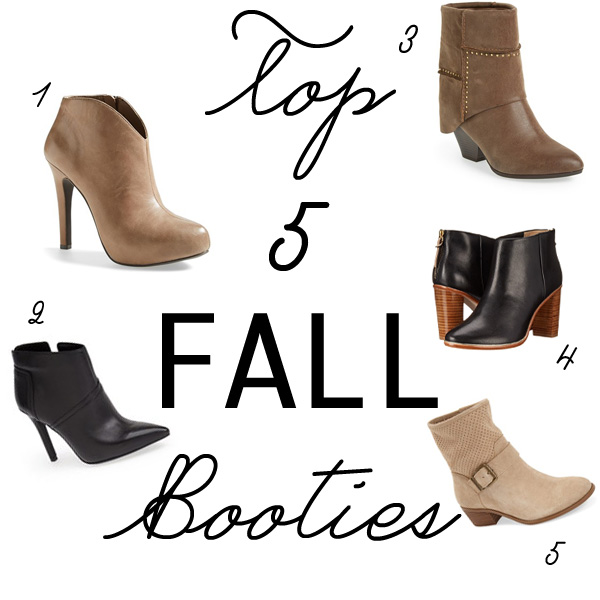 top five fall booties for fall