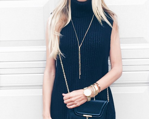 monochromatic fall outfit black and gold