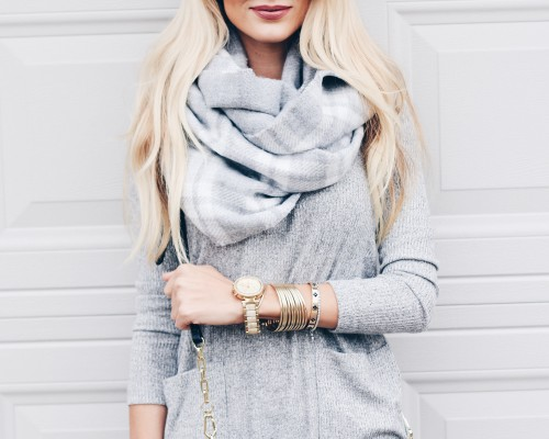 grey and black fall outfit