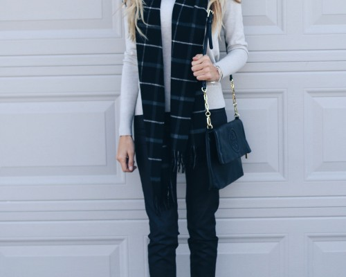 affordable-holiday-outfit-sweater-target-fringe-heels-tory-burch-clutch-scarf