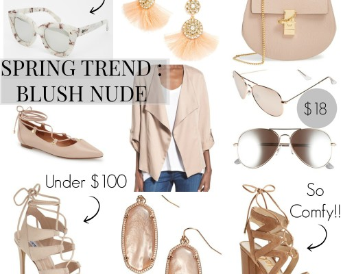 blush nude spring shoes and accessories