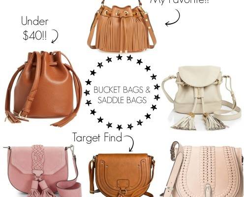 spring trend bucket and saddle bags